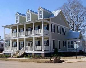Southern Plantation house on a corner lot.